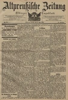 Altpreussische Zeitung, Nr. 124 Freitag 30 Mai 1902, 54. Jahrgang
