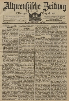 Altpreussische Zeitung, Nr. 131 Sonnabend 7 Juni 1902, 54. Jahrgang