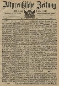 Altpreussische Zeitung, Nr. 133 Dienstag 10 Juni 1902, 54. Jahrgang