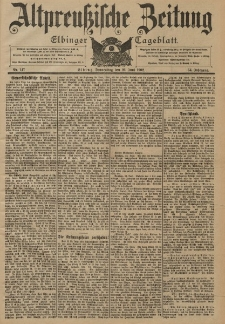Altpreussische Zeitung, Nr. 147 Donnerstag 26 Juni 1902, 54. Jahrgang