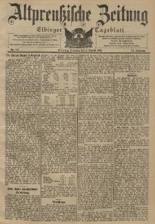 Altpreussische Zeitung, Nr. 181 Dienstag 5 August 1902, 54. Jahrgang