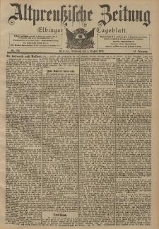 Altpreussische Zeitung, Nr. 182 Mittwoch 6 August 1902, 54. Jahrgang