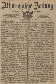 Altpreussische Zeitung, Nr. 183 Donnerstag 7 August 1902, 54. Jahrgang