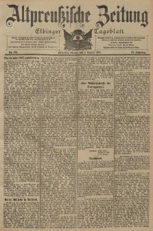 Altpreussische Zeitung, Nr. 184 Freitag 8 August 1902, 54. Jahrgang