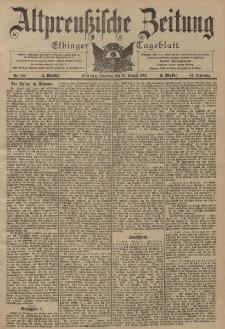 Altpreussische Zeitung, Nr. 186 Sonntag 10 August 1902, 54. Jahrgang