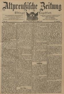 Altpreussische Zeitung, Nr. 187 Dienstag 12 August 1902, 54. Jahrgang