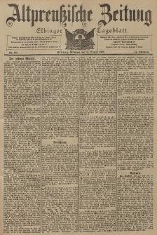 Altpreussische Zeitung, Nr. 188 Mittwoch 13 August 1902, 54. Jahrgang
