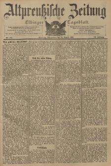 Altpreussische Zeitung, Nr. 189 Donnerstag 14 August 1902, 54. Jahrgang
