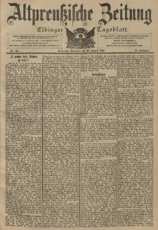 Altpreussische Zeitung, Nr. 198 Sonntag 24 August 1902, 54. Jahrgang