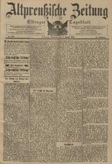 Altpreussische Zeitung, Nr. 200 Mittwoch 27 August 1902, 54. Jahrgang