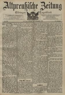 Altpreussische Zeitung, Nr. 205 Dienstag 2 September 1902, 54. Jahrgang