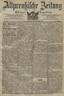 Altpreussische Zeitung, Nr. 206 Mittwoch 3 September 1902, 54. Jahrgang