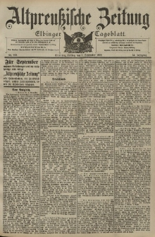 Altpreussische Zeitung, Nr. 208 Freitag 5 September 1902, 54. Jahrgang
