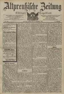 Altpreussische Zeitung, Nr. 220 Freitag 19 September 1902, 54. Jahrgang