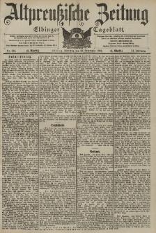 Altpreussische Zeitung, Nr. 223 Dienstag 23 September 1902, 54. Jahrgang