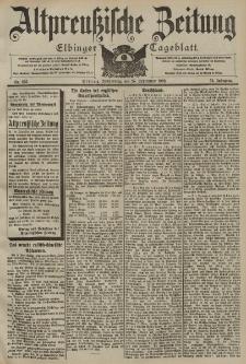 Altpreussische Zeitung, Nr. 225 Donnerstag 25 September 1902, 54. Jahrgang
