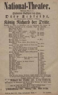 Pozycja nr 133 z kolekcji Henryka Nitschmanna : König Richard der Dritte