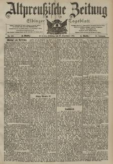 Altpreussische Zeitung, Nr. 228 Sonntag 28 September 1902, 54. Jahrgang