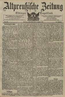 Altpreussische Zeitung, Nr. 233 Sonnabend 4 Oktober 1902, 54. Jahrgang