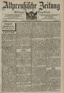 Altpreussische Zeitung, Nr. 237 Donnerstag 9 Oktober 1902, 54. Jahrgang