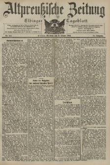 Altpreussische Zeitung, Nr. 242 Mittwoch 15 Oktober 1902, 54. Jahrgang