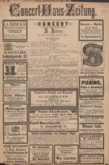 Pozycja nr 180 z kolekcji Henryka Nitschmanna : Concert-Haus-Zeitung