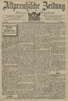 Altpreussische Zeitung, Nr. 261 Donnerstag 6 November 1902, 54. Jahrgang