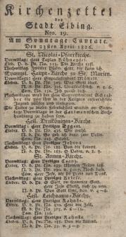 Kirchenzettel der Stadt Elbing, Nr. 19, 23 April 1826