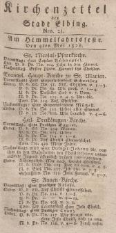 Kirchenzettel der Stadt Elbing, Nr. 21, 4 Mai 1826