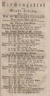 Kirchenzettel der Stadt Elbing, Nr. 23, 14 Mai 1826