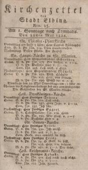 Kirchenzettel der Stadt Elbing, Nr. 25, 28 Mai 1826