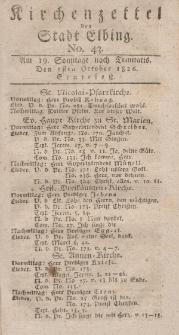 Kirchenzettel der Stadt Elbing, Nr. 43, 1 Oktober 1826