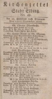 Kirchenzettel der Stadt Elbing, Nr. 49, 12 November 1826