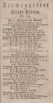 Kirchenzettel der Stadt Elbing, Nr. 54, 17 Dezember 1826
