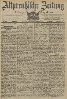 Altpreussische Zeitung, Nr. 270 Sonntag 16 November 1902, 54. Jahrgang