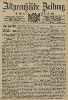 Altpreussische Zeitung, Nr. 275 Sonntag 23 November 1902, 54. Jahrgang