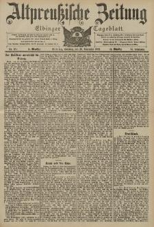 Altpreussische Zeitung, Nr. 281 Sonntag 30 November 1902, 54. Jahrgang