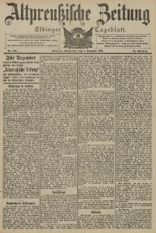 Altpreussische Zeitung, Nr. 284 Donnerstag 4 Dezember 1902, 54. Jahrgang
