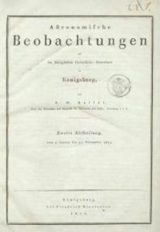 Astronomische Beobachtungen auf der Königlichen Universitäts - Sternwarte in Königsberg