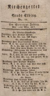 Kirchenzettel der Stadt Elbing, Nr. 12, 15 März 1807
