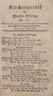 Kirchenzettel der Stadt Elbing, Nr. 18, 19 April 1807