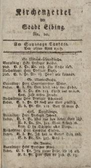 Kirchenzettel der Stadt Elbing, Nr. 20, 26 April 1807
