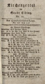Kirchenzettel der Stadt Elbing, Nr. 22, 7 Mai 1807