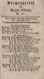 Kirchenzettel der Stadt Elbing, Nr. 24, 17 Mai 1807