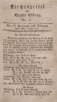 Kirchenzettel der Stadt Elbing, Nr. 30, 28 Juni 1807