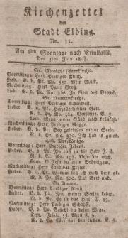 Kirchenzettel der Stadt Elbing, Nr. 31, 5 Juli 1807