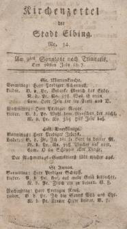 Kirchenzettel der Stadt Elbing, Nr. 34, 26 Juli 1807
