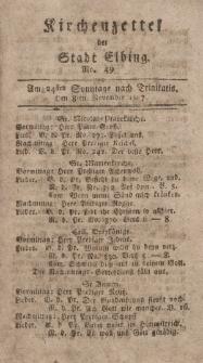 Kirchenzettel der Stadt Elbing, Nr. 49, 8 November 1807