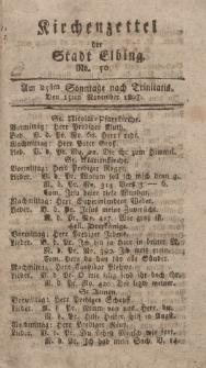 Kirchenzettel der Stadt Elbing, Nr. 50, 15 November 1807