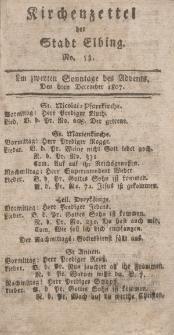 Kirchenzettel der Stadt Elbing, Nr. 53, 6 Dezember 1807